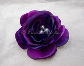 Purple hair clip purple brooch bridesmaids gift