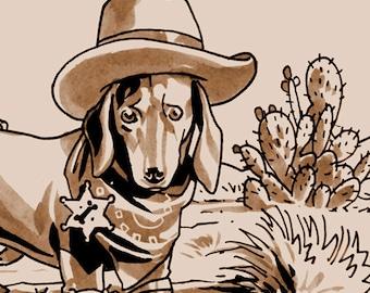 Tragedy 334: Sheriff Puppy Print