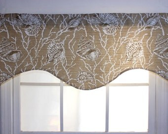 Sea Shells Shaped Valance in Tan