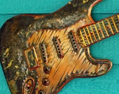 CUSTOM for Brooke - Copper Stratocaster, Les Paul, or other-style full-sized electric guitar sculpture by by Mark - OOAK