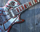 CUSTOM listing for Paige - Aluminum Jimmy Page 1275 Gibson Double Neck full-sized electric guitar sculpture by Mark - OOAK