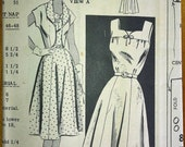 1950's Mail Order Dress and Bolero Pattern - Bust 38