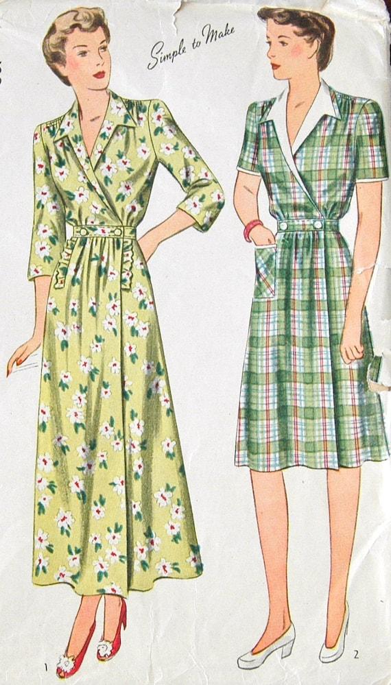 1940's Simplicity Dress Pattern - Bust 36