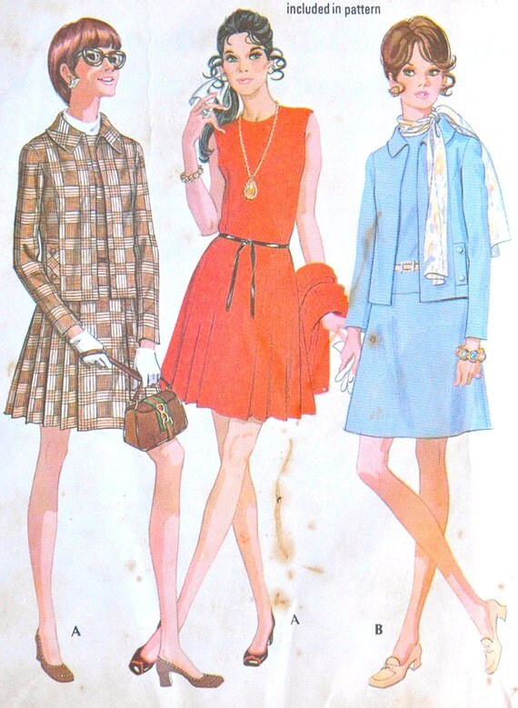 DISCOUNTED** 1960's McCall's Dress and Jacket Pattern - Bust 32 1/2""
