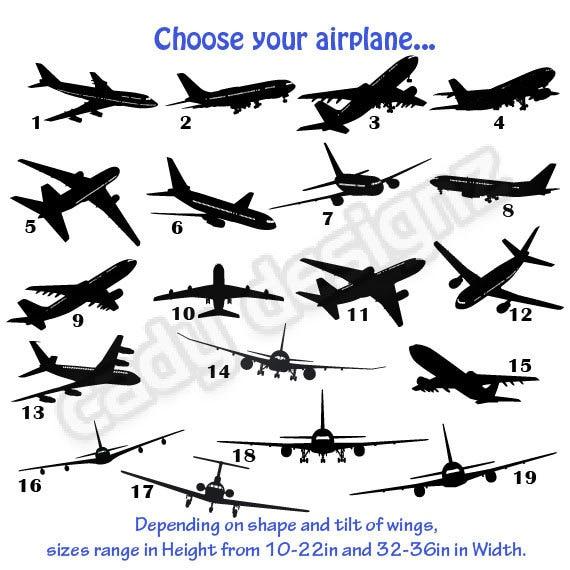 Airplane Vinyl Wall Decals Airplanes Nursery Decor Stickers