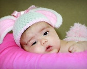 Too Cute Newborn Baby Girl Crochet Floppy Ear Bunny Hat/Diaper Cover FREE  SHIPPING