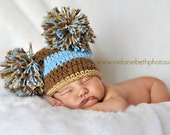 Baby Boy Hat AWESOME  Baby Boy Crochet Sack Hat  FREE Shipping More Colors Available Newborn 0-3 or 3-6 months
