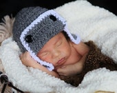 TOO CUTE Aviator Bomber Pilot Baby Boy or Girl Crochet Hat With  More Colors Available Newborn 0-3 3-6 6-9 months