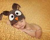 SOOOOO CUTE  Newborn Baby Boy Crochet Owl Hat  FREE Shipping