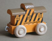 Wooden Toy Caboose - Nebraska Railroad