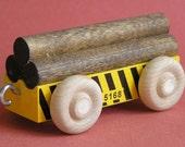 Wooden Toy Train Log Car