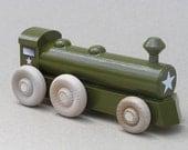 Wooden World War II Army Locomotive