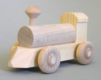 Wooden Toy Locomotive