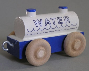 Wood Toy Train Water Car