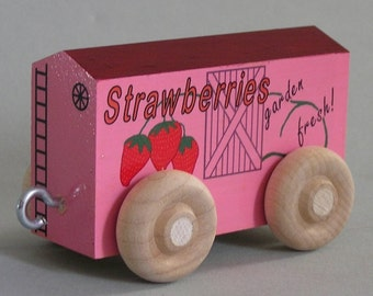 Toy Strawberry Freight Car