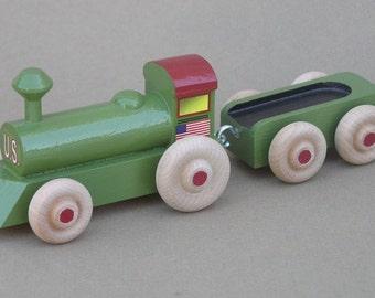 Wooden Toy Locomotive set