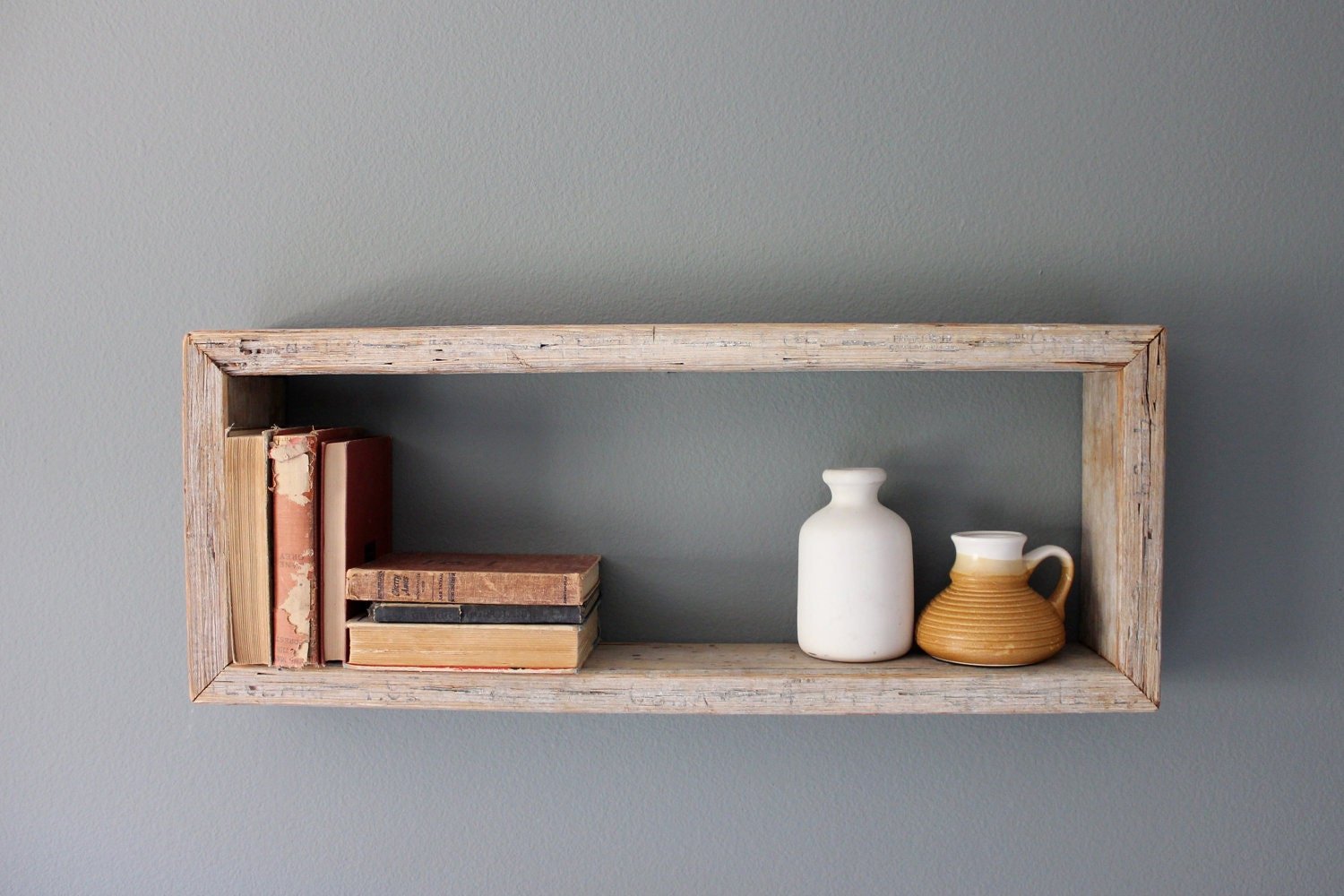 Rustic Wood Shelves : Rustic Wood Box Shelf by houseinhabit on Etsy