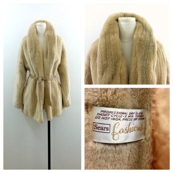 Sears Faux Fur Coat 1970's