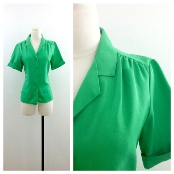 Bright Green Blouse by Lady Arrow 1960's