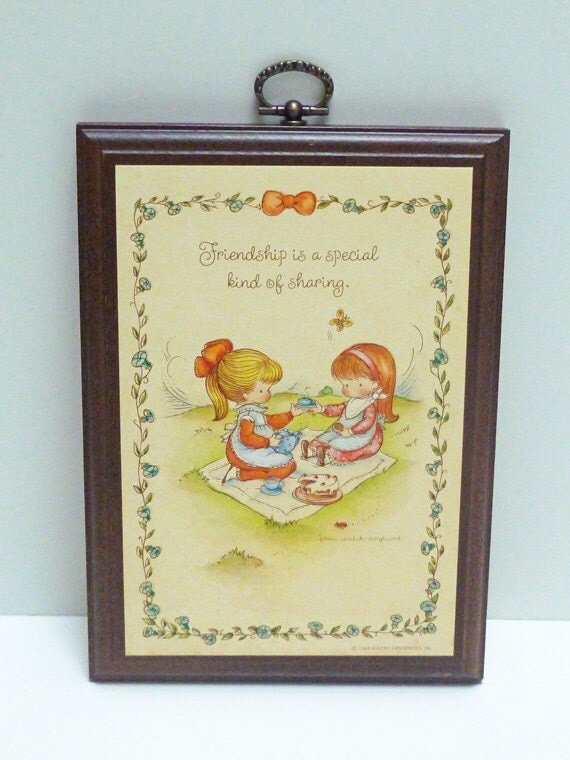 """Sweet Joan Walsh Anglund Wall Plaque, """"Friendship"""""""