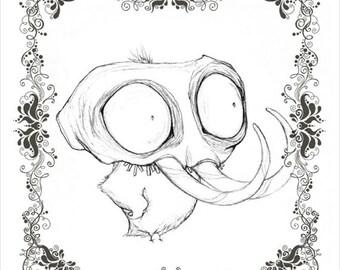 CUCKOO GRIN - character concept fine art print 8.5x11