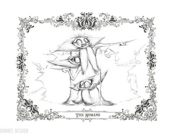 THE NOMANS - character concept fine art print 8.5x11