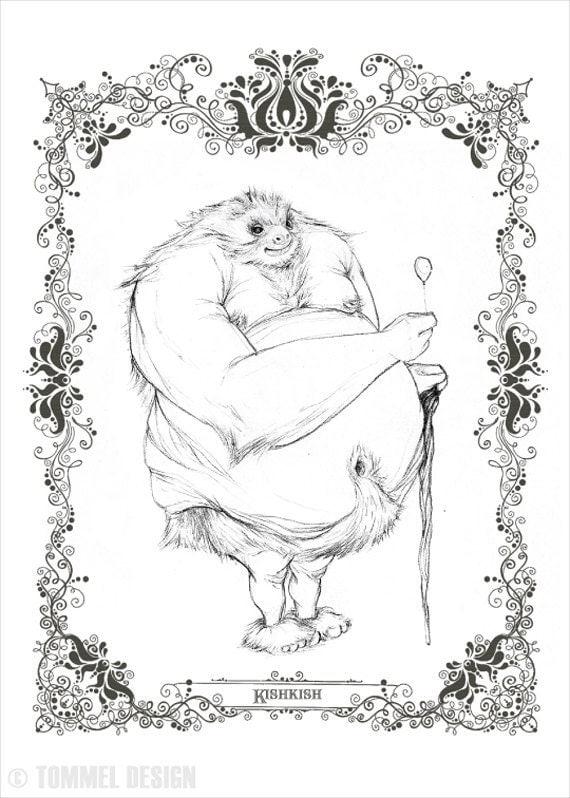 KISHKISH - character concept fine art print 8.5x11