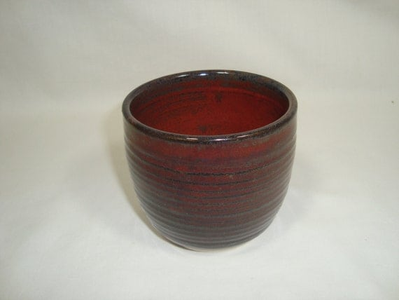Ancient jasper Japanese style tea cup - small tea cup - 11 oz
