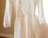 lace wedding dress / long sleeve / short / small / extra small