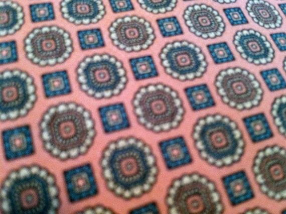 Vintage SILK TIE Adolfo Nectie Pink Narrow