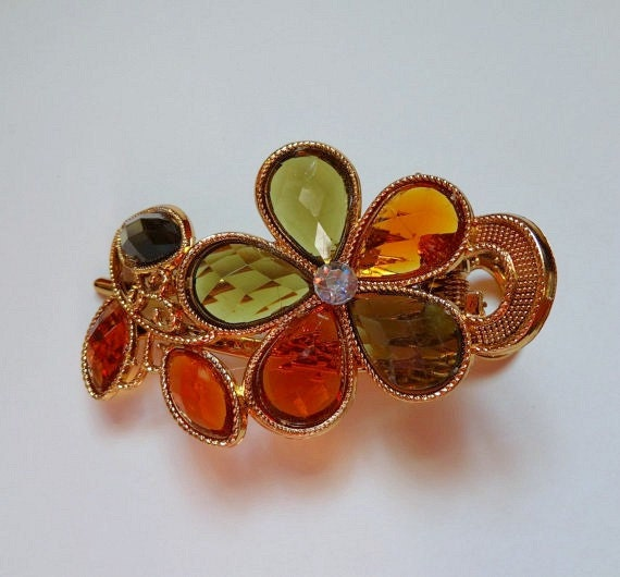 Hair Clip Bright Colors Green Amber Fast Shipping