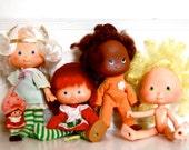 Retro original Strawberry Shortcake dolls and friends