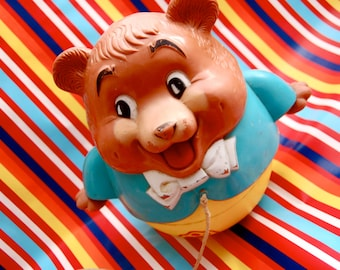 Vintage Fisher -Price Bear Musical Pull Toy