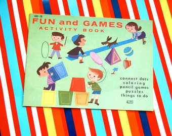 Vintage Fun Games and Activity Book