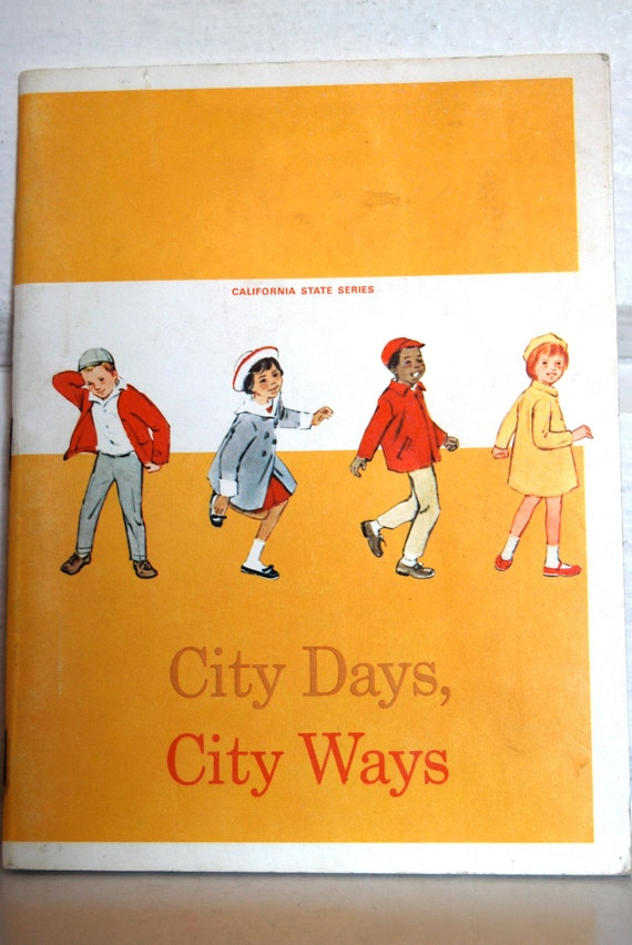 Vintage Child's Text Book, City Days, City Ways RESERVED NETS