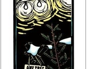 Greeting Card (1) from a linocut by Ken Swanson (9844)
