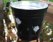 Galvanized Backyard Daisy Bucket