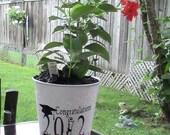 Galvanized Backyard Graduation Vase