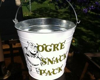 Galvanized Backyard Snack Bucket