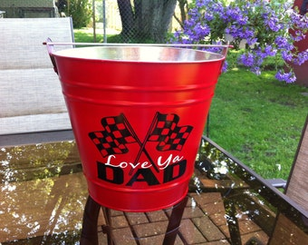 Galvanized Backyard Father Bucket