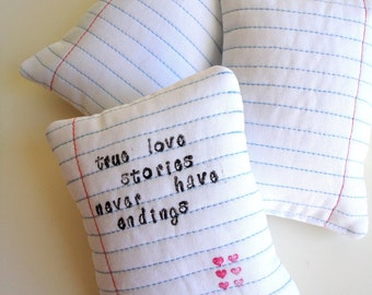 Notebook Page Lavender Sachet - True love stories...