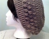 The Kelley Hat: Crochet slouchy hat with puffs (More COLORS)