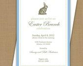 Easter Brunch invitation. Easter Egg Hunt invitation. Easter invitation