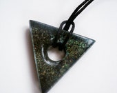 Colour Shifting Galaxy, Triangle Resin Pendant