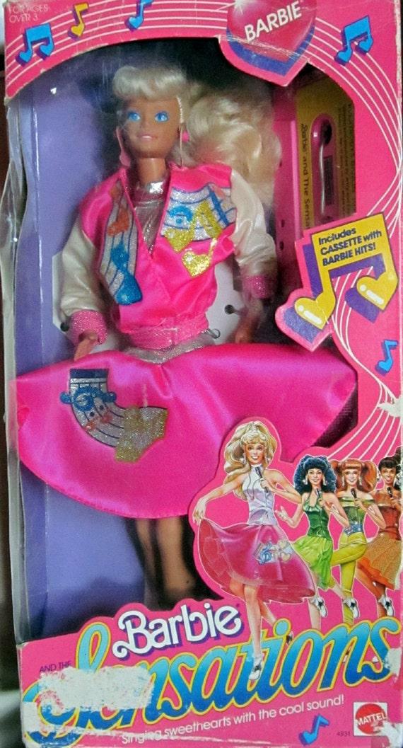 Mattel vintage barbie doll barbie sensations mib 1987 - Barbie chanteuse ...