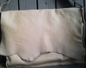 Large Leather Bag - Cream