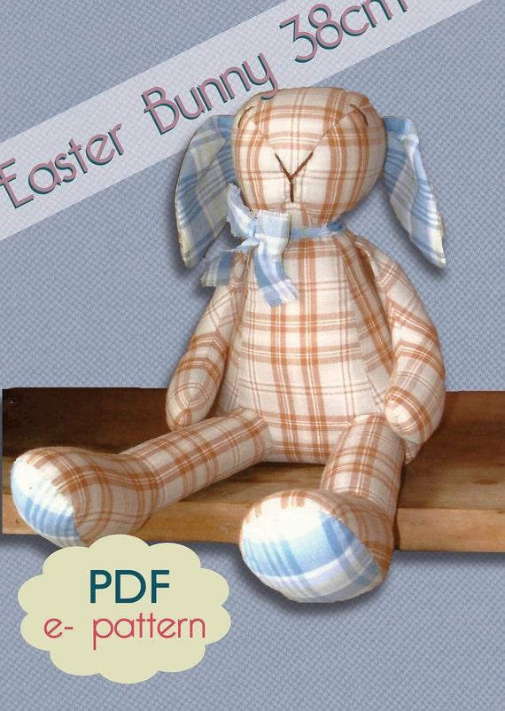 Easter Bunny 38 cm PDF pattern