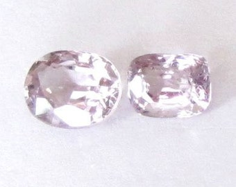 Natural Violet Spinel, Unheated, Cushion Oval Cut, Lot(2) of 1.43 carat