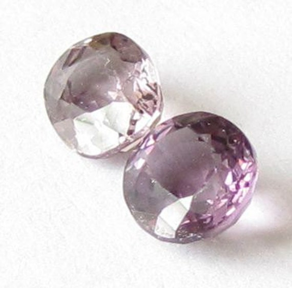 Natural Violet Spinel, Unheated, Oval Cut, Lot (2) of 1.23 carat