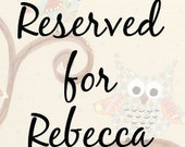 Reserved for Rebecca - 2 original canvases